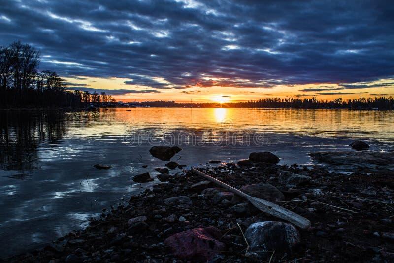 Erstaunlicher Sonnenuntergang stockfoto
