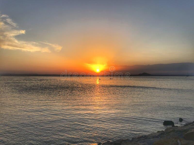 Erstaunlicher Sonnenuntergang stockbilder