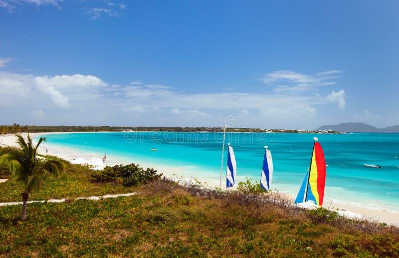 Verabredungs-Schacht auf Anguilla Karibisches Meer lizenzfreie stockbilder