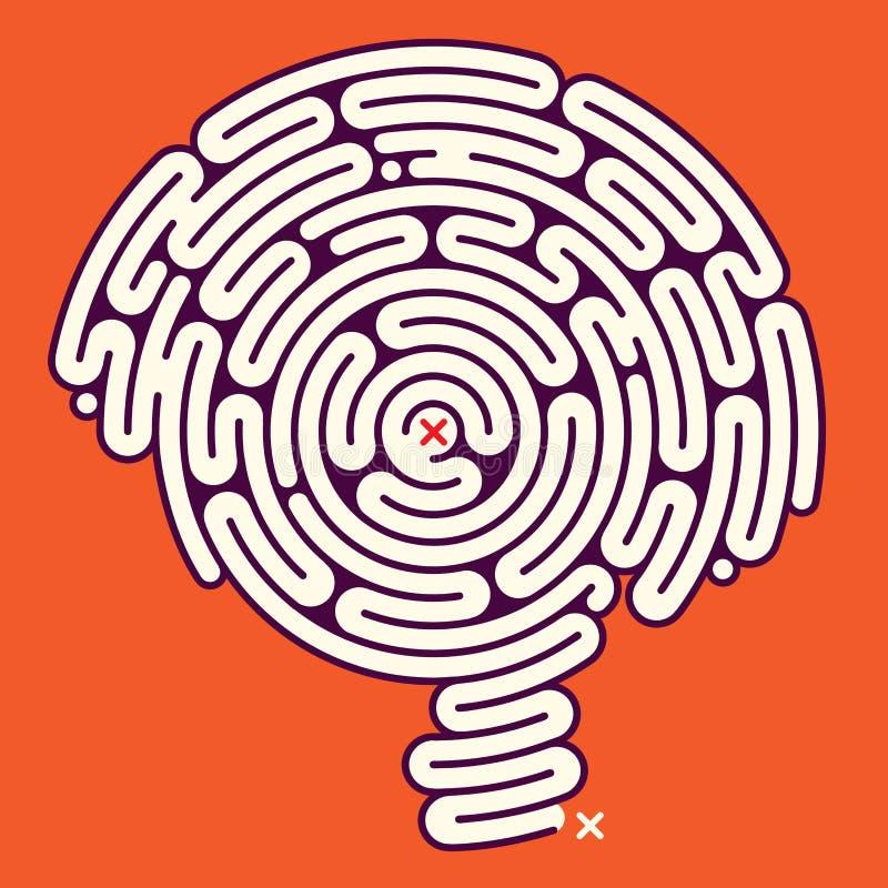 Erstaunliches Labyrinth-Gehirn lizenzfreie abbildung