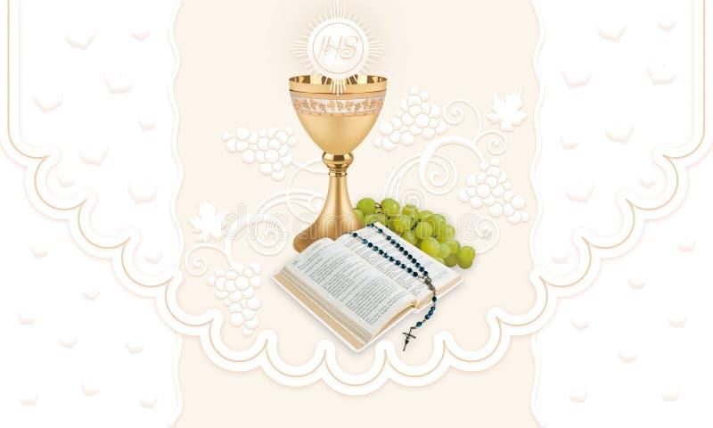Erste heilige Kommunion lizenzfreies stockbild
