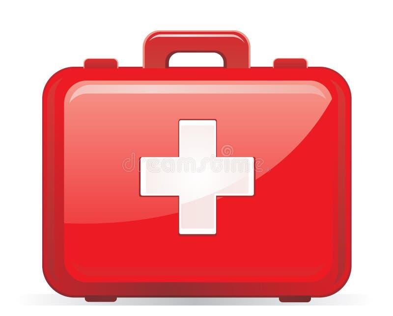 Erste-Hilfe-Ausrüstung getrennt stock abbildung