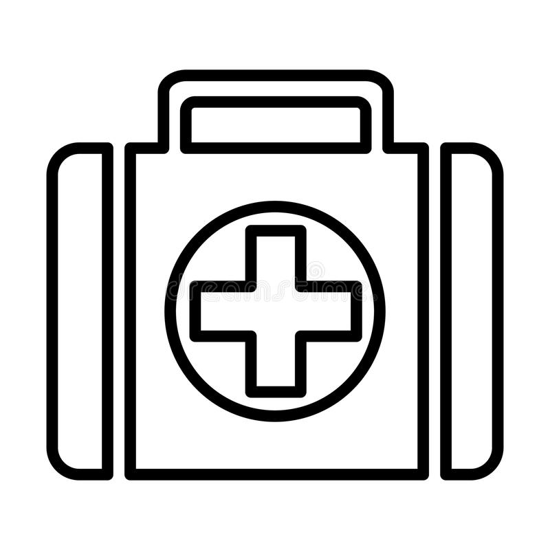 Erste-Hilfe-Kit Line Icon Piktogramm des Vektor-96x96 vektor abbildung
