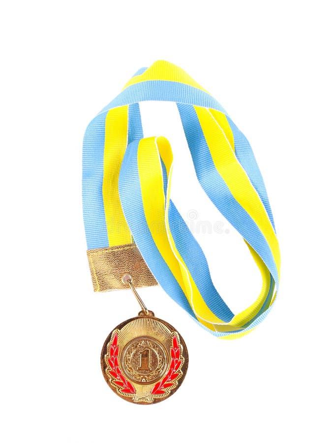 Erste Platzmedaille stockfoto