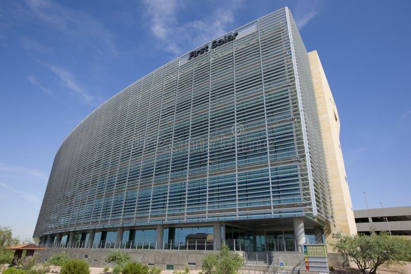 Erste Solarbüros lizenzfreies stockfoto