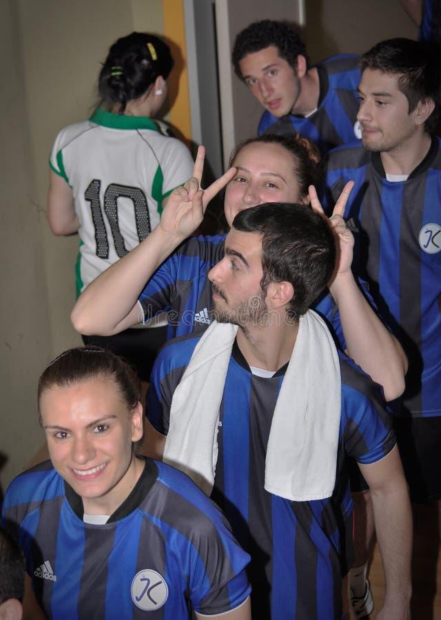 Erste türkische nationale Korfball-Meisterschaft lizenzfreies stockfoto