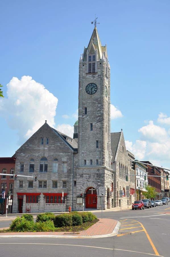 Erster Baptist Church, Watertown, NY, USA stockfoto