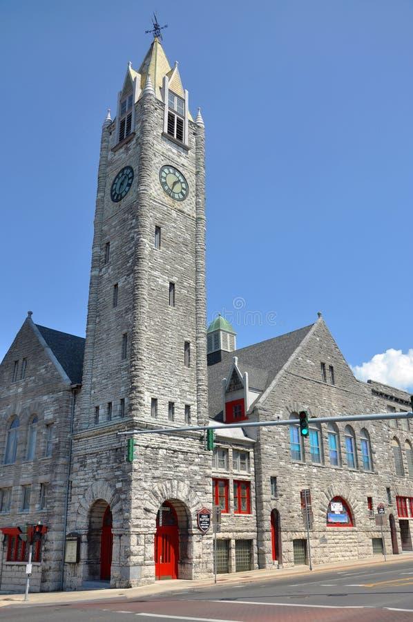 Erster Baptist Church, Watertown, NY, USA stockfotos