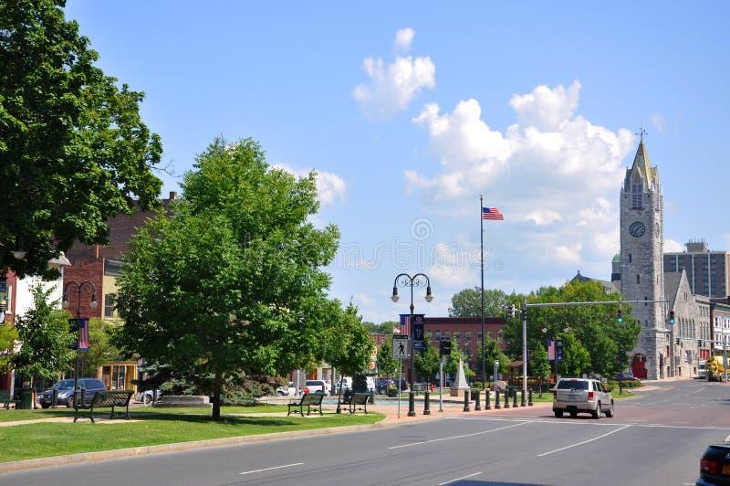 Erster Baptist Church, Watertown, NY, USA lizenzfreies stockfoto