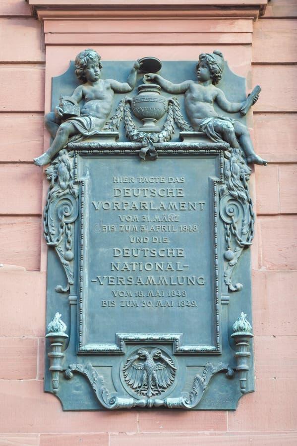 Erster deutscher Parlaments-Epitaph - St Paul Kirche lizenzfreies stockfoto