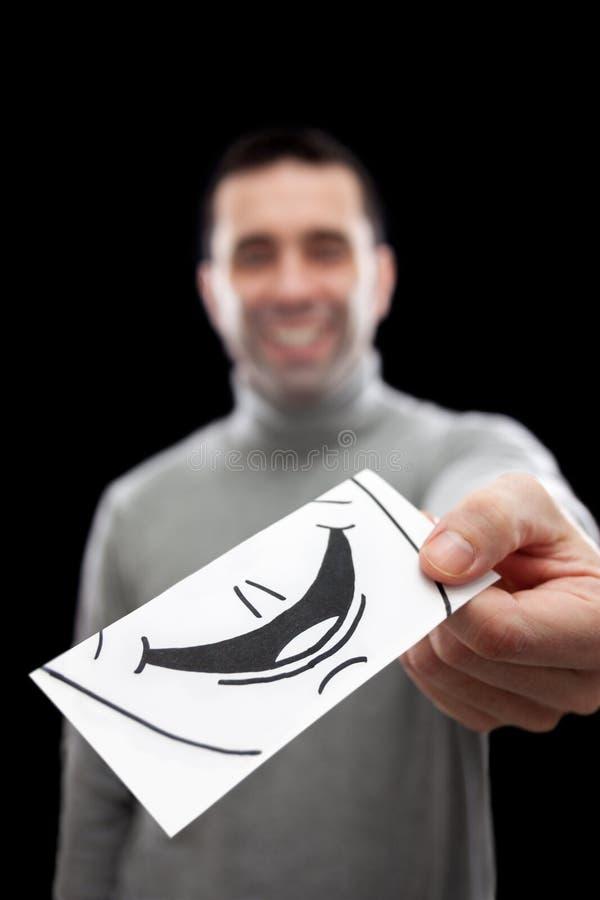 Erster Eindruck (Lächeln) stockbild