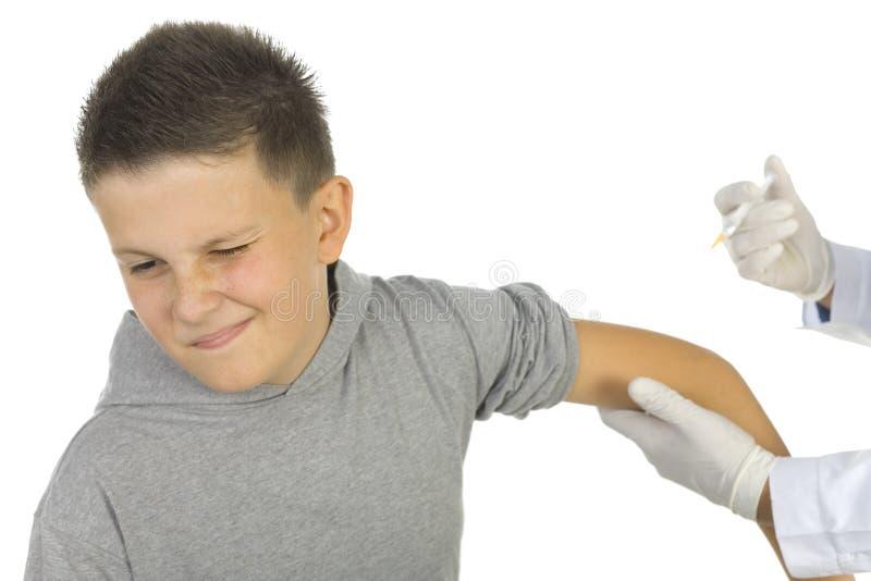 Erster Impfstoff stockbild