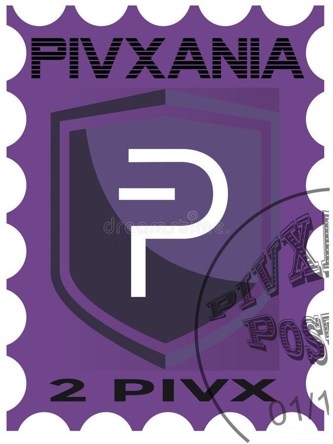 Erster PIVX-Poststempel lizenzfreie abbildung