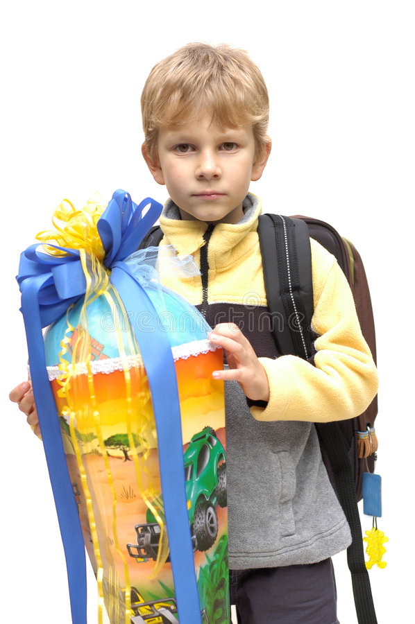 Erster Schultag Lizenzfreies Stockfoto