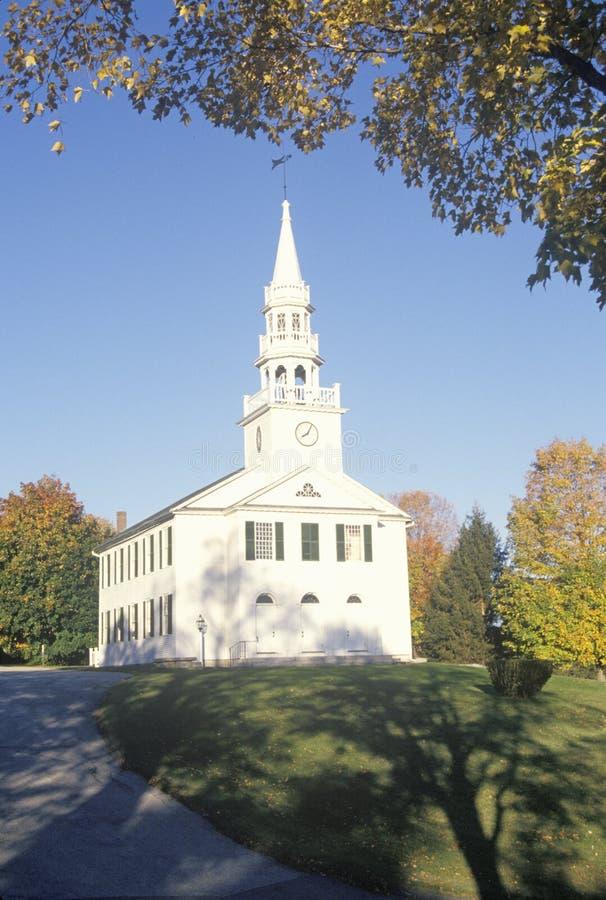 Erstes Gemeindekirchengebäude im Jahre 1756 in Waren Connecticut lizenzfreie stockbilder