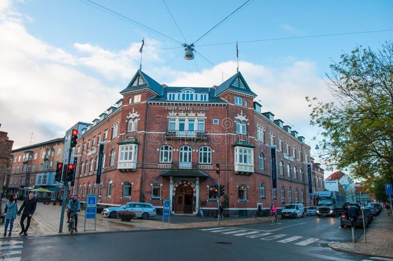 Erstes Hotel großartiges Odense stockbild