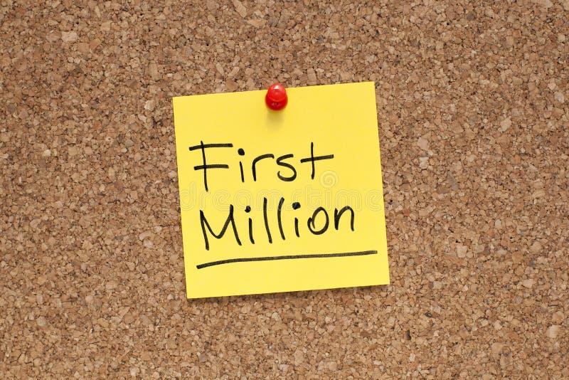 Erstes Million lizenzfreie stockfotos