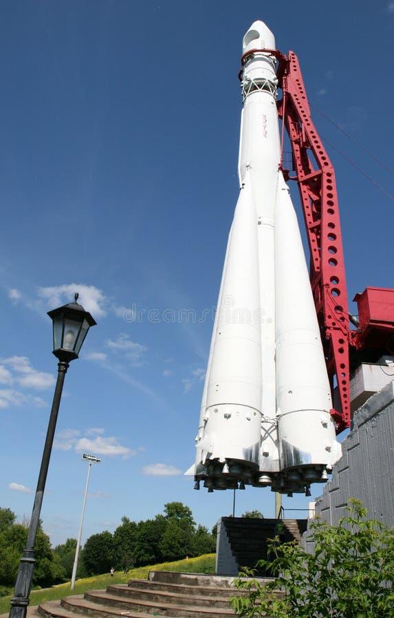 Erstes Raumschiff Vostok in Kaluga lizenzfreies stockbild