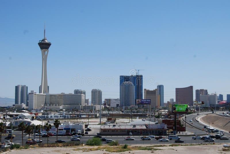 Erstklassige Ausgänge Las Vegass Nord, Ballungsraum, Stadt, Stadtgebiet, Skyline lizenzfreie stockfotografie