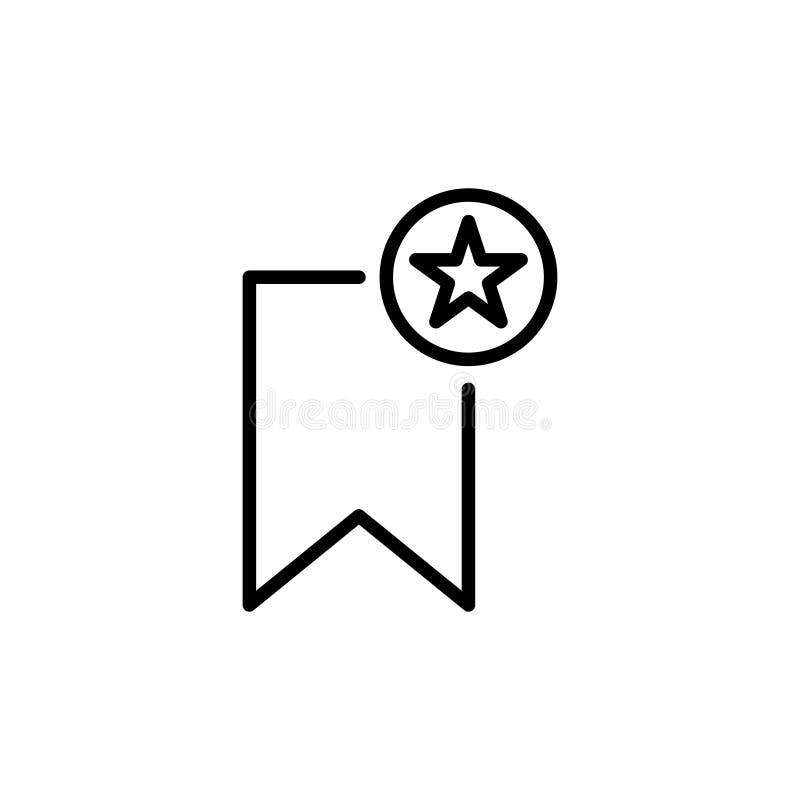 Erstklassige Bookmarkikone oder -logo in der Linie Art lizenzfreie abbildung