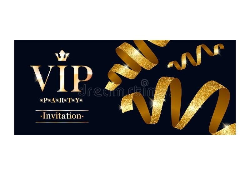 Erstklassige Designschablone der Promi-Einladungskarte vektor abbildung