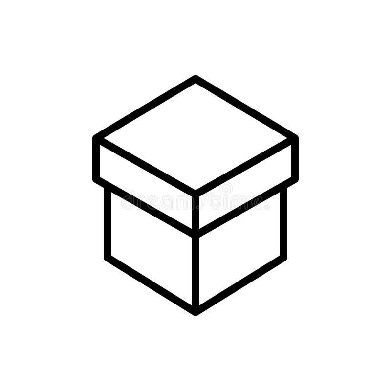 Erstklassige Kastenikone oder -logo in der Linie Art lizenzfreie abbildung