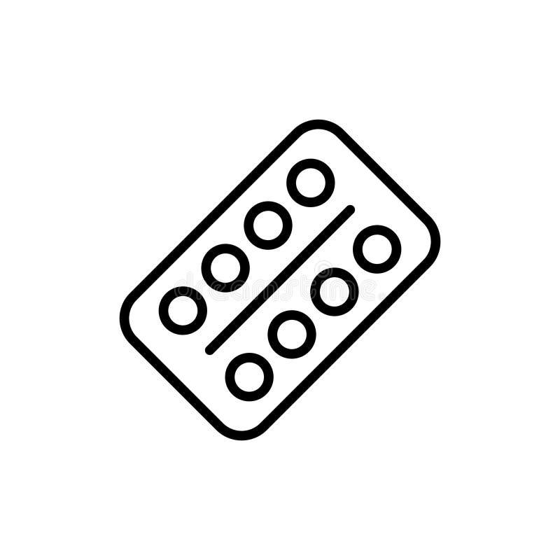 Erstklassige medizinische Drogenikone oder -logo in der Linie Art vektor abbildung