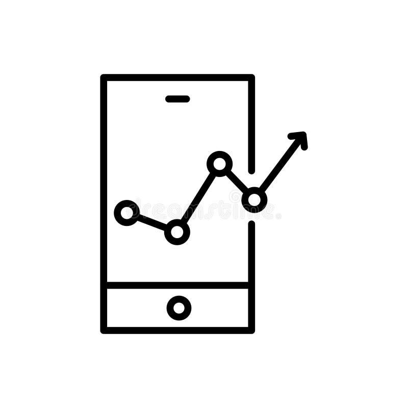 Erstklassige Netzanalytikikone oder -logo in der Linie Art stock abbildung