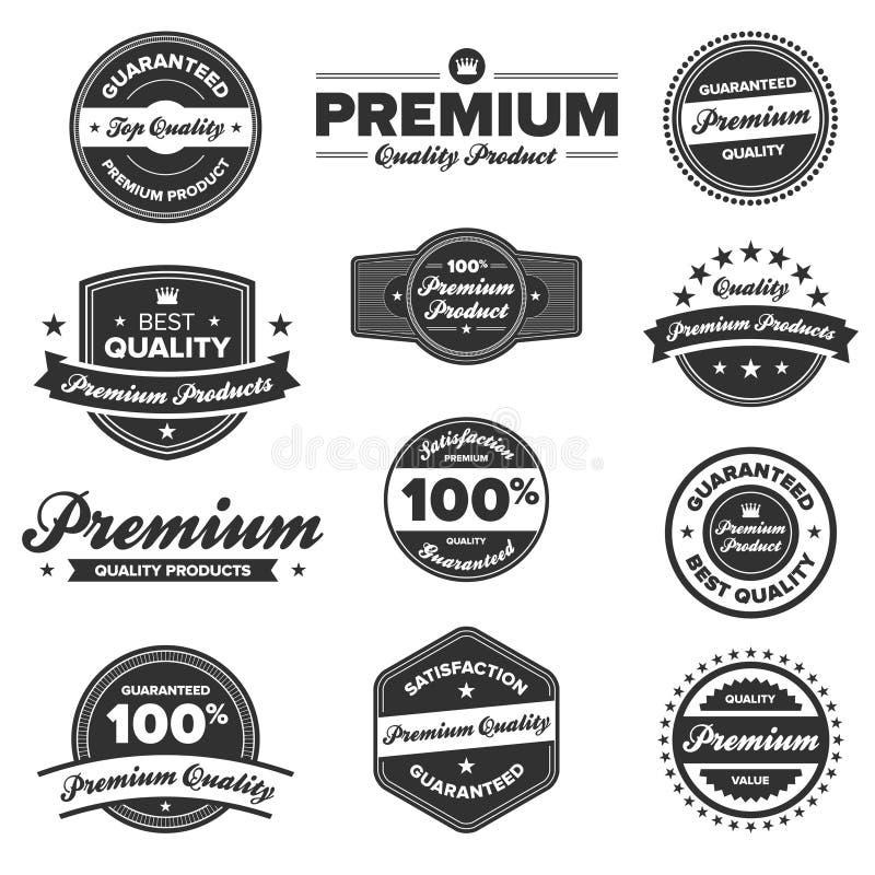 Erstklassige Qualitätskennsätze stock abbildung