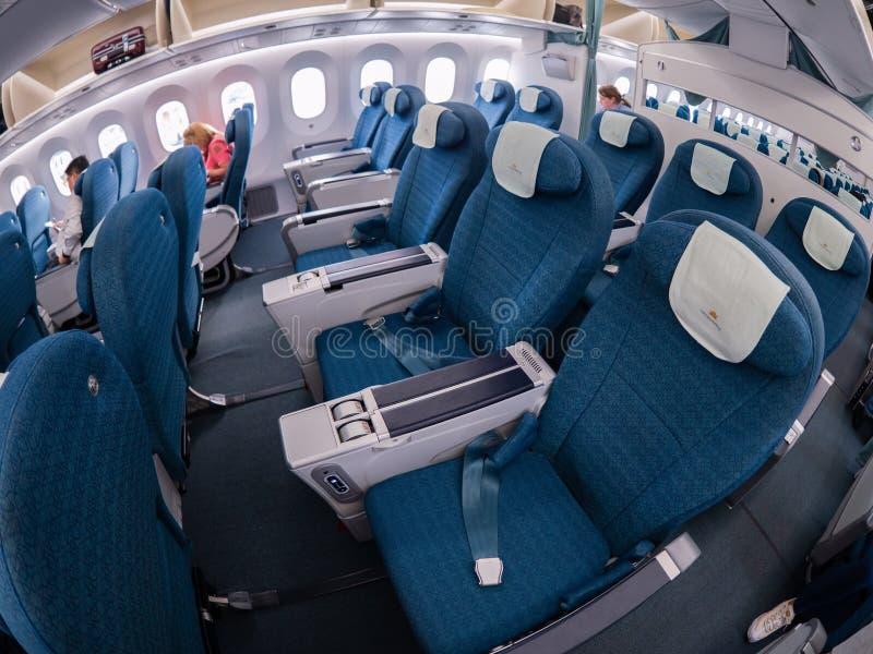 Erstklassige Wirtschaftskabine Vietnam Airliness stockfoto