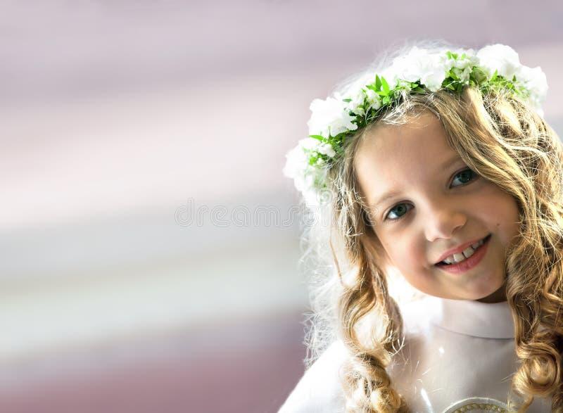 Erstkommunionsporträt stockfoto
