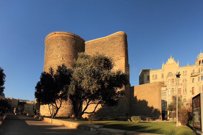 Erstkontrollturm (Baku) stockfotografie