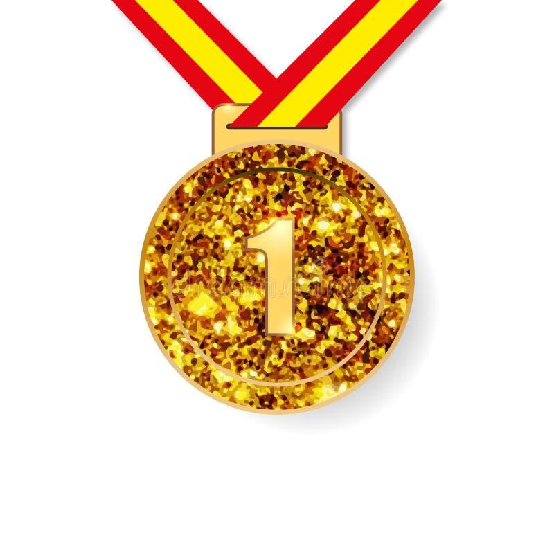 Erstplatz- Goldmedaillenpreis lizenzfreie abbildung