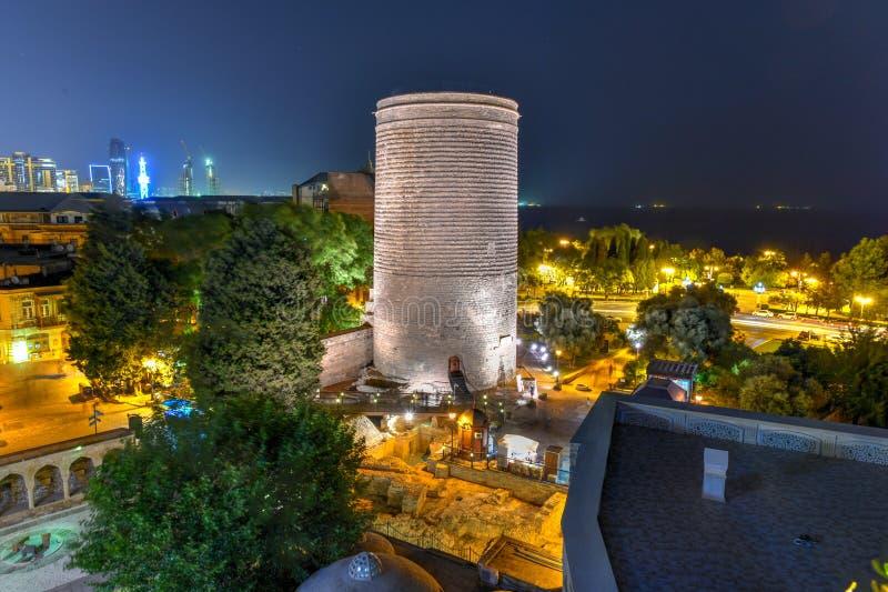 Erstturm - Baku, Aserbaidschan stockbild