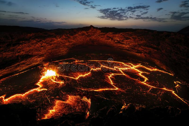 Erta Ale Volcano Ethiopia royaltyfri fotografi