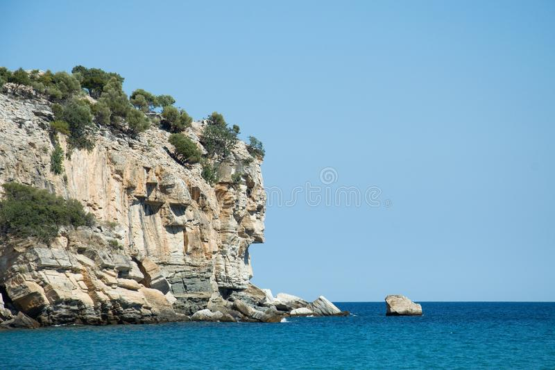 Ertsader in de Middellandse Zee stock foto