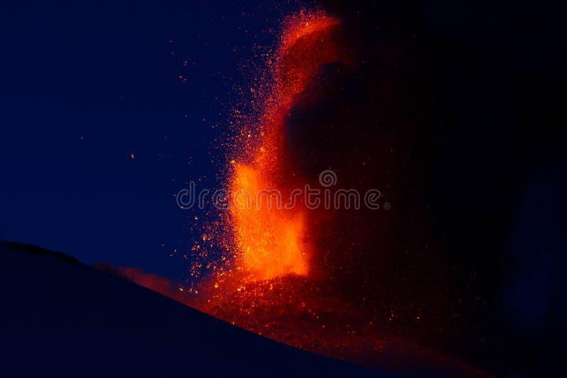 Erupção Etna 2013 fotografia de stock