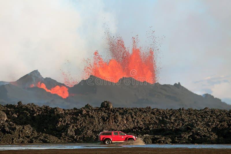 Erupção vulcânica foto de stock royalty free