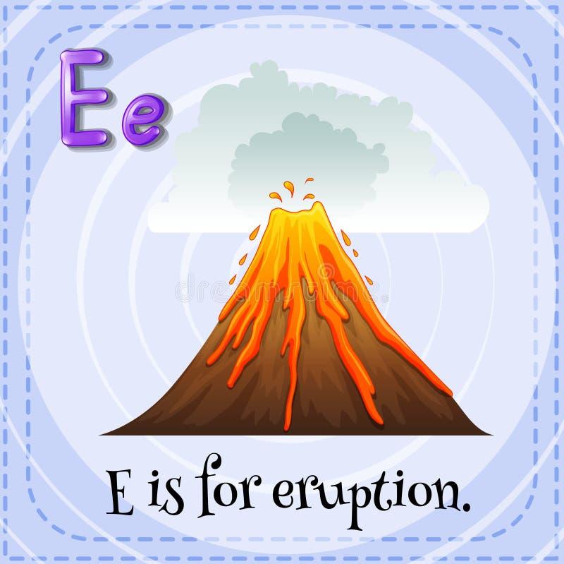 erupción ilustración del vector