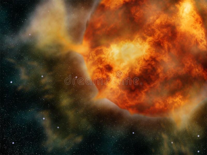 Erupción de Sun ilustración del vector