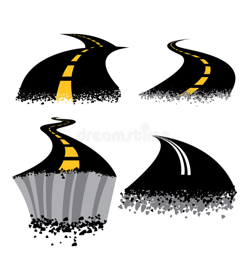 Erupción del camino stock de ilustración
