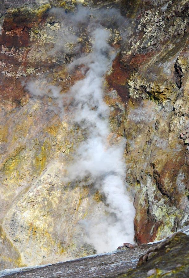 Erupción del Etna (Sicilia) fotografía de archivo libre de regalías