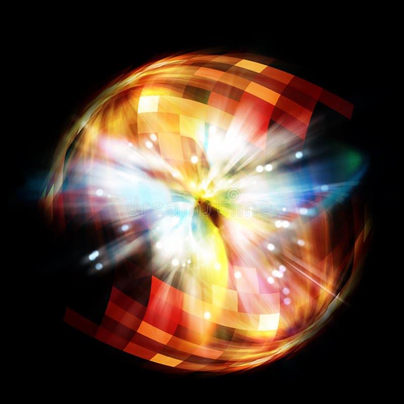 Erupción del universo ilustración del vector