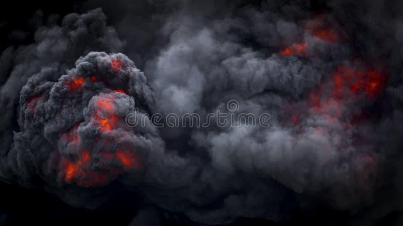 Erupción volcánica de flujo piroclástico volcánico fotografía de archivo libre de regalías