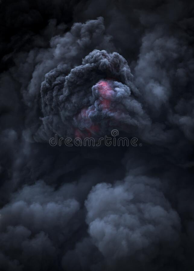 Erupción volcánica de flujo piroclástico volcánico fotos de archivo libres de regalías