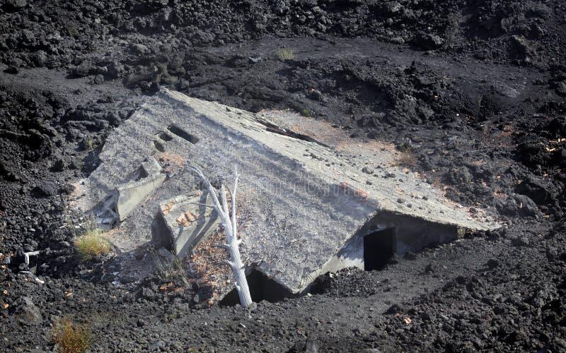 erupci powulkaniczny domowy obrazy stock