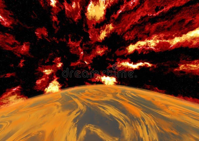 erupcja royalty ilustracja