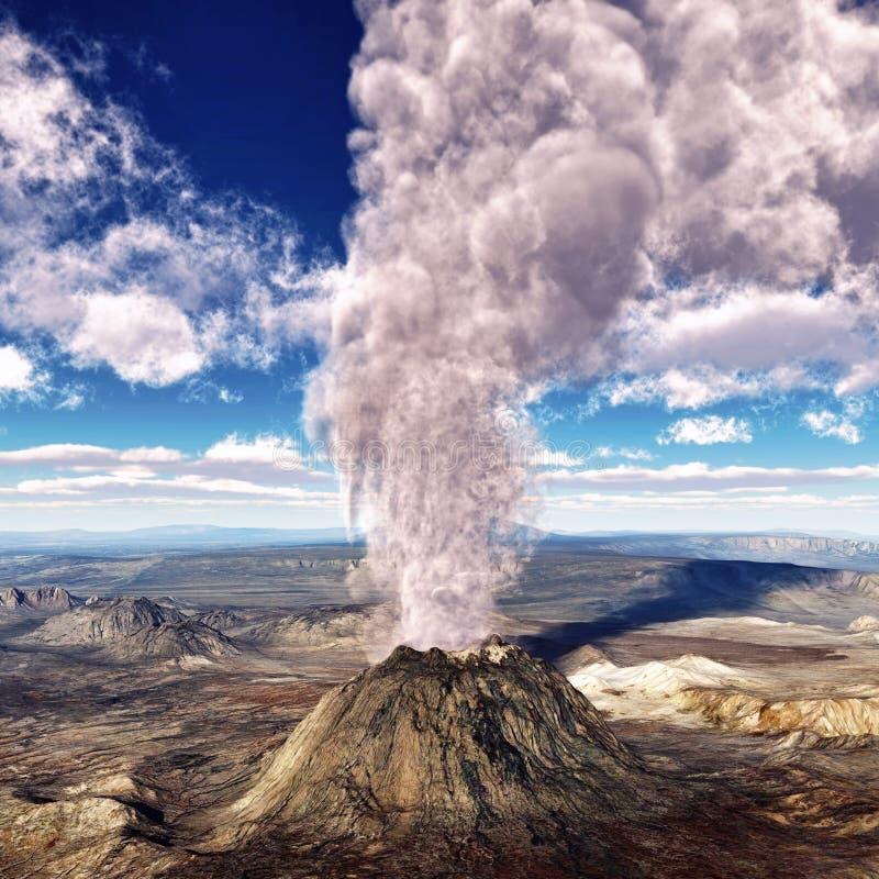 erupcja powulkaniczna royalty ilustracja