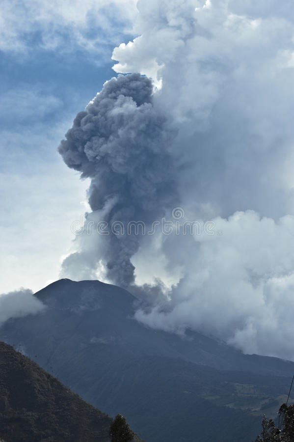 Erupcja wulkan fotografia stock