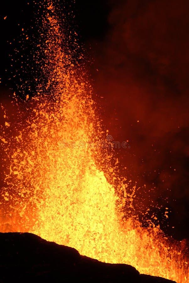 erupcja wulkanu fotografia stock